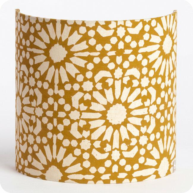 Fabric Half Lamp Shade For Wall Light, Gold Mesh Lamp Shade