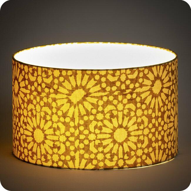 Drum Fabric Lamp Shade, Gold Mesh Lamp Shade