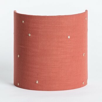 Cotton gauze half lamp shade for wall light Stardust chestnut