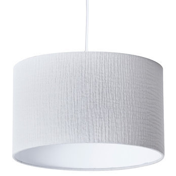 Cotton gauze drum lamp shade / pendant shade Gris clair
