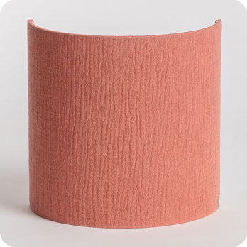 Cotton gauze half lamp shade for wall light Marsala